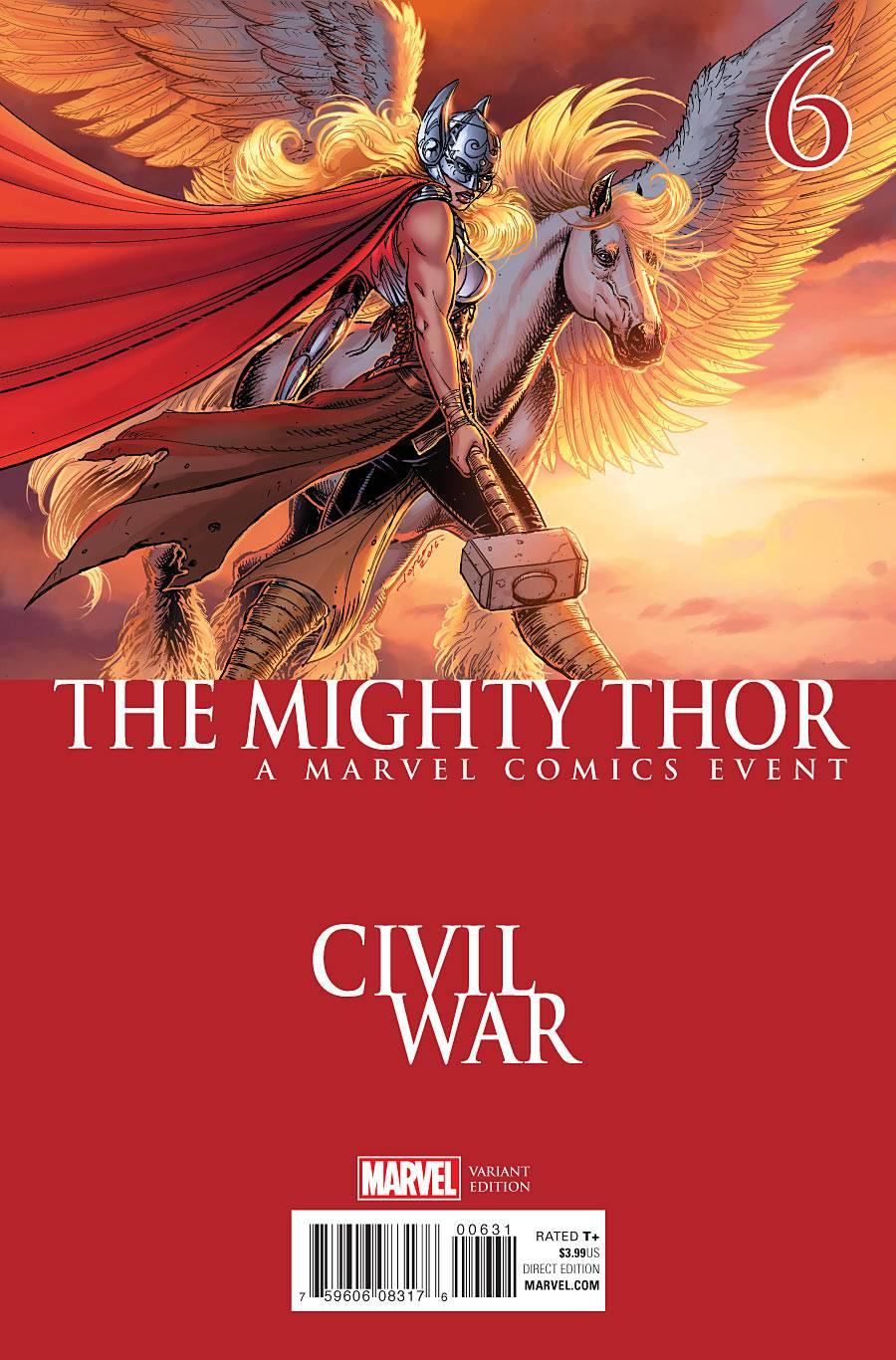 The Mighty Thor 6 Chin Civil War Cover Fresh Comics