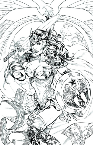 Wonder Woman #48 (Adult Coloring Book Cover)