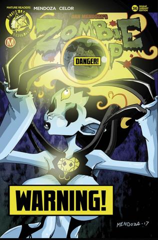 Zombie Tramp #36 (Mendoza Kaiju Risque Cover)