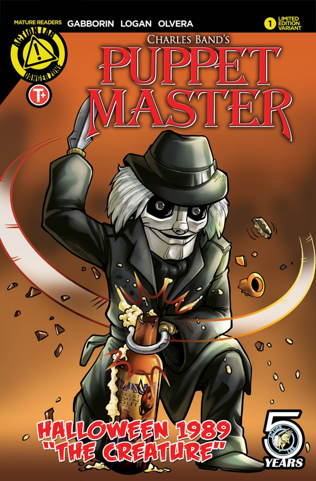 Puppet Master Halloween 1989 (NYCC Beer Cover)