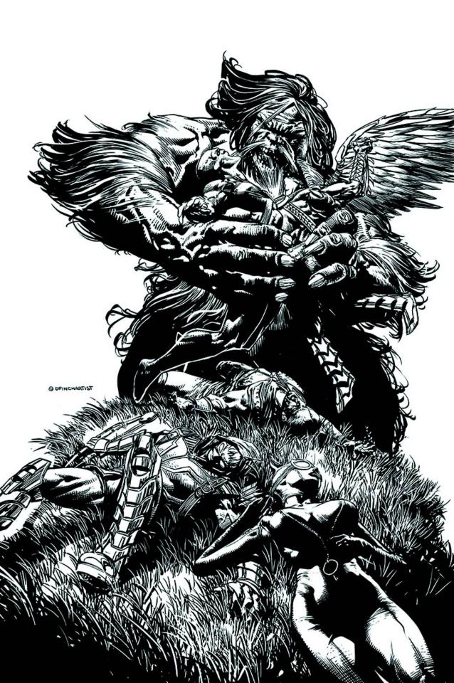 Justice League of America #4 (Black & White Cover)