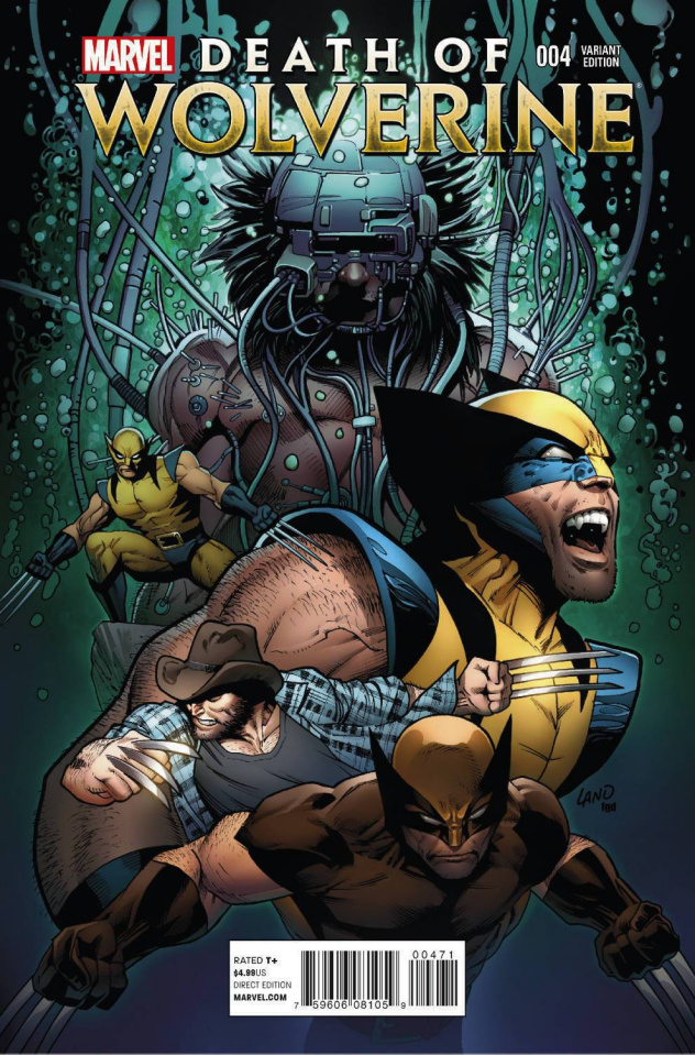 Death of Wolverine #4 (Land Cover)