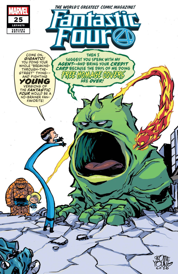 Fantastic Four #25 (Young Cover)