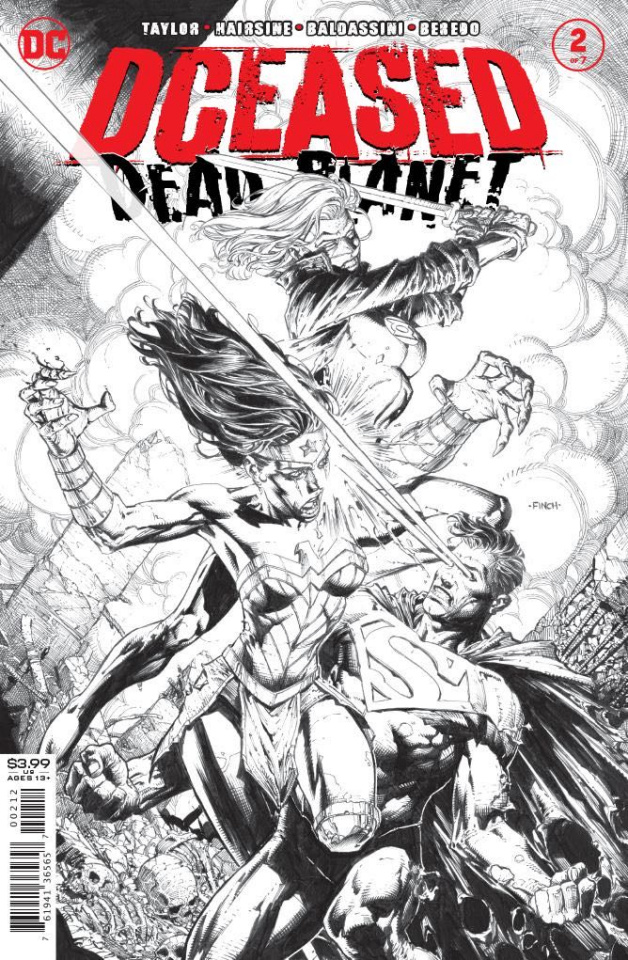 DCeased: Dead Planet #2 (David Finch B&W 2nd Printing)