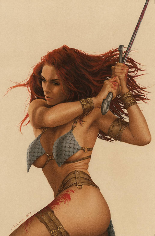 The Invincible Red Sonja #4 (Celina Virgin Cover)
