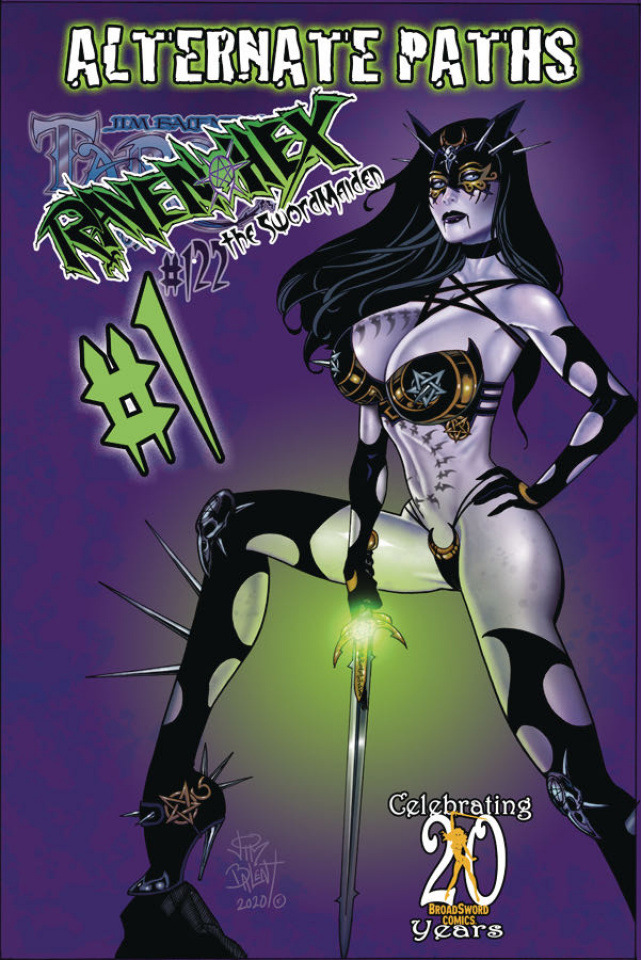 Tarot: Witch of the Black Rose #122 (Alt Paths Raven Sword Cover)