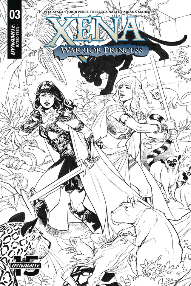 Xena: Warrior Princess #3 (20 Copy Lupacchino B&W Cover)