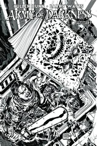 Army of Darkness #2 1(0 Copy Hardman B&W Cover)