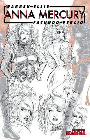 Anna Mercury #1 (Design Sketch Cover)