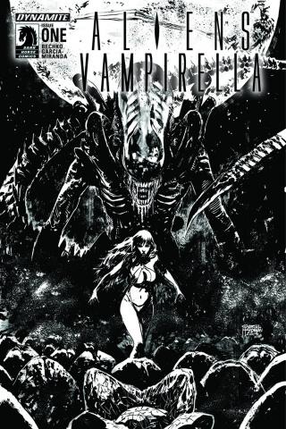 Aliens / Vampirella #1 (25 Copy Hardman B&W Cover)