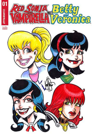 Red Sonja and Vampirella Meet Betty and Veronica #1 (4 Character Cover)