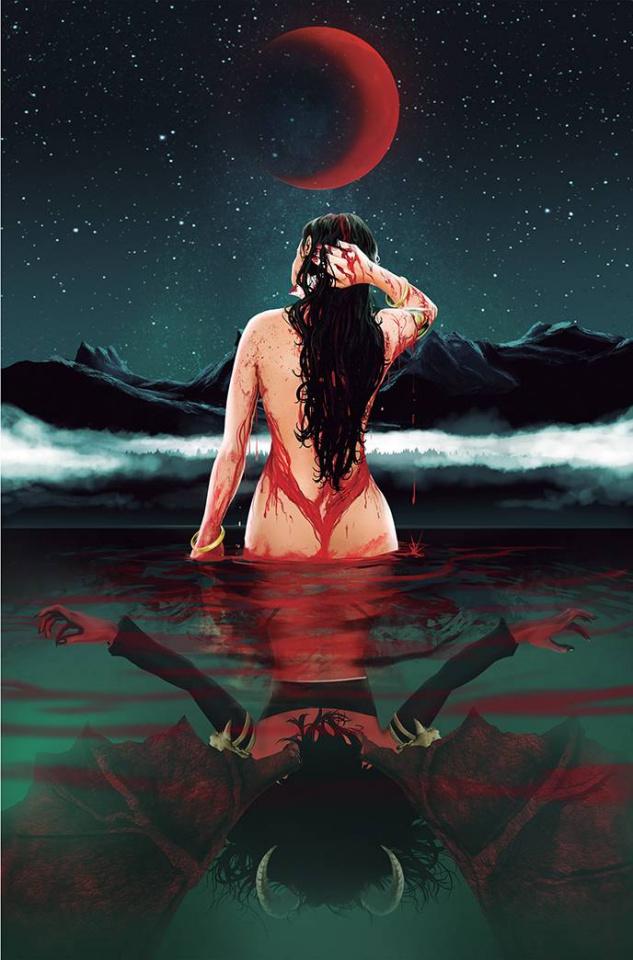 Vampirella vs. Purgatori #2 (Maine Virgin Bonus Cover)