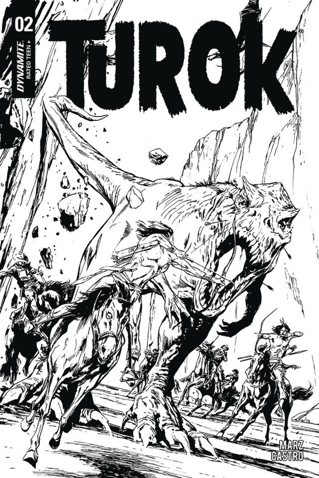 Turok #2 (20 Copy Guice B&W Cover)