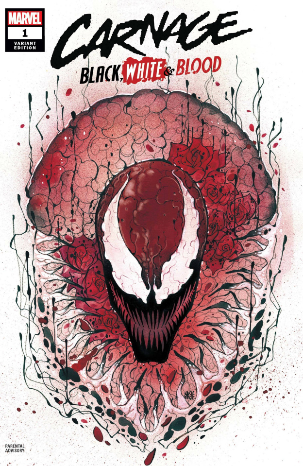 Carnage: Black, White, and Blood #1 (Momoko Cover)