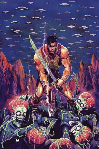 Warlord of Mars Attacks #1 (Marc D'Alfonso Virgin Cover)