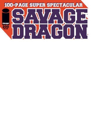 Savage Dragon #200 (Blank Sketch Cover)