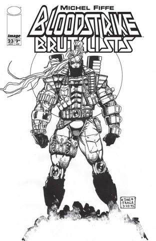 Bloodstrike #23 (Fraga B&W Cover)