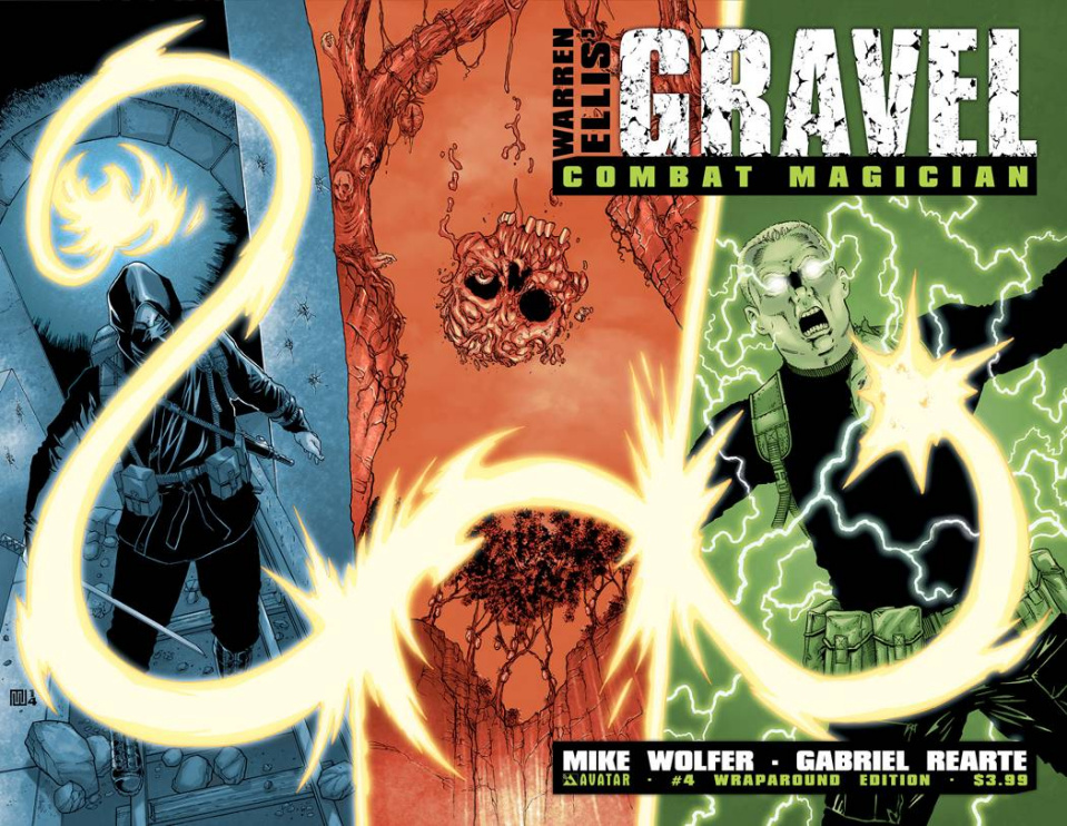 Gravel: Combat Magician #4 (Wrap Cover)