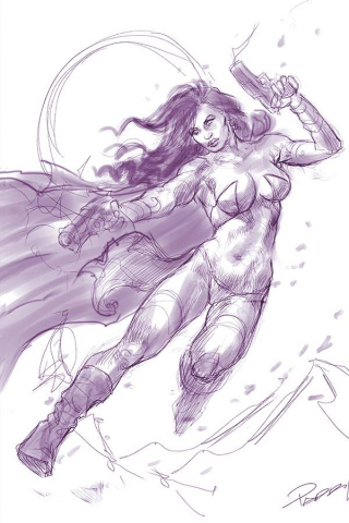 Dejah Thoris #6 (25 Copy Parrillo Tint Virgin Purple Cover)