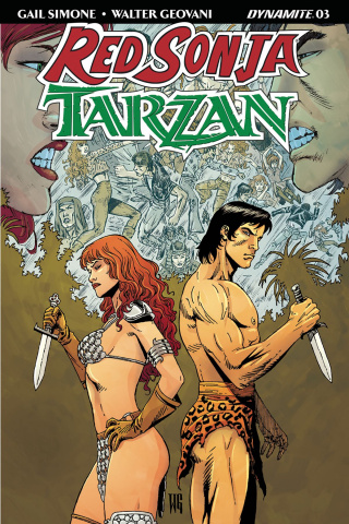 Red Sonja / Tarzan #3 (Geovani Cover)