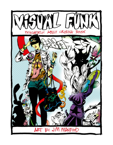 Visual Funk Psychadelic Art Adult Coloring Book