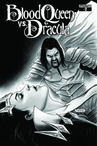 Blood Queen vs. Dracula #2 (15 Copy Neves B&W Cover)