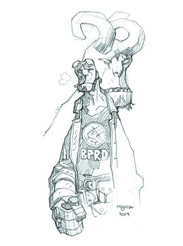 Hellboy and the B.P.R.D. #1 (Mignola Sketch Cover)