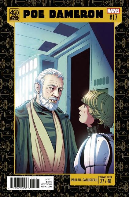 Star Wars: Poe Dameron #17 (Ganucheau Star Wars 40th Anniversary Cover)