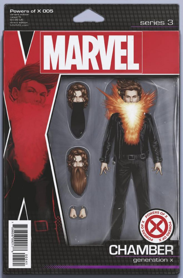Powers of X #5 (Christopher Action Figure Cover(