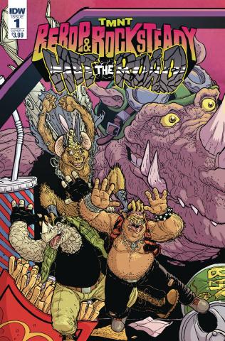 Teenage Mutant Ninja Turtles: Bebop and Rocksteady Hit the Road #1 (Pitarra Cover)