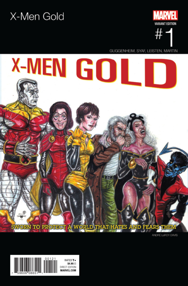 X-Men: Gold #1 (Davis Hip Hop Cover)