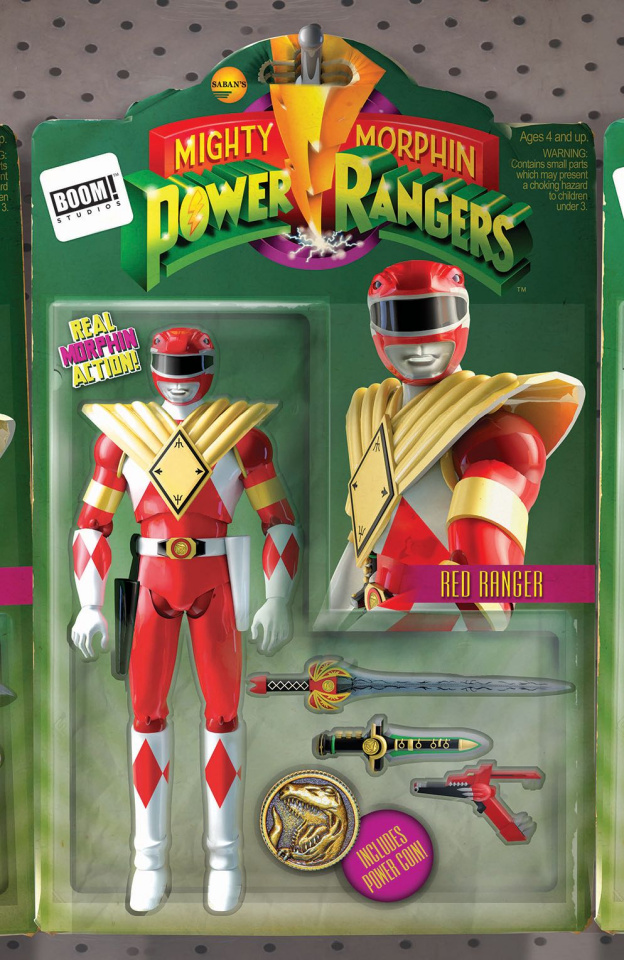 Mighty Morphin' Power Rangers #8 (Unlock Action Figure Cover)