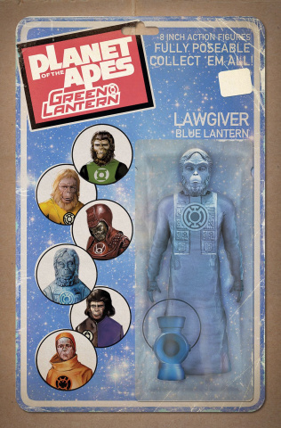 The Planet of the Apes / The Green Lantern #4 (Unlock Action Figure Cover)
