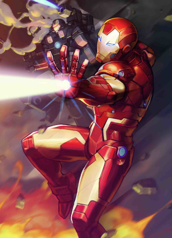 Tony Stark: Iron Man #12 (Nexon Marvel Battle Lines Cover)