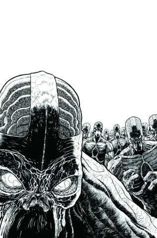 Green Lantern: New Guardians #16 (Black & White Cover)