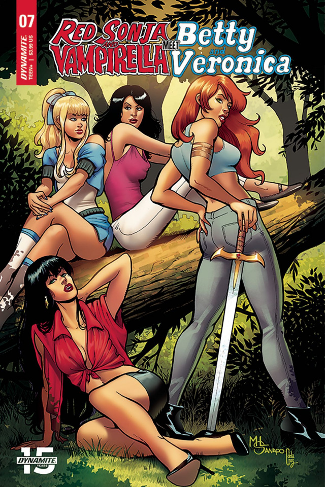 Red Sonja and Vampirella Meet Betty and Veronica #7 (Sanapo Cover)