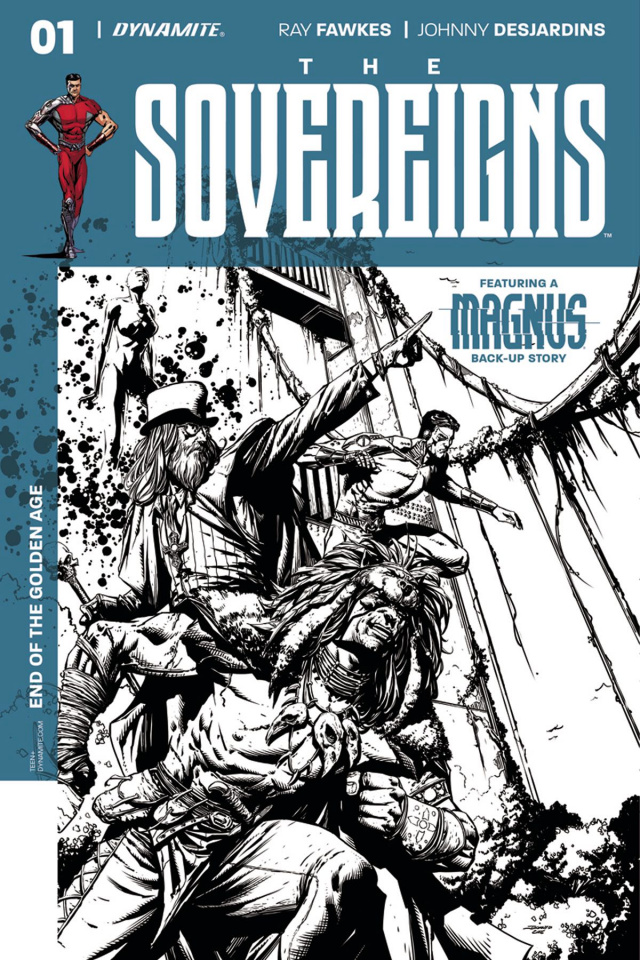 The Sovereigns #1 (20 Copy Desjardins B&W Cover)