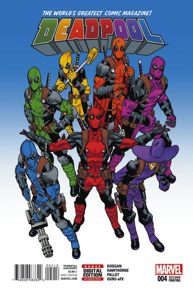 Deadpool #4 (Hawthorne 2nd Printing)