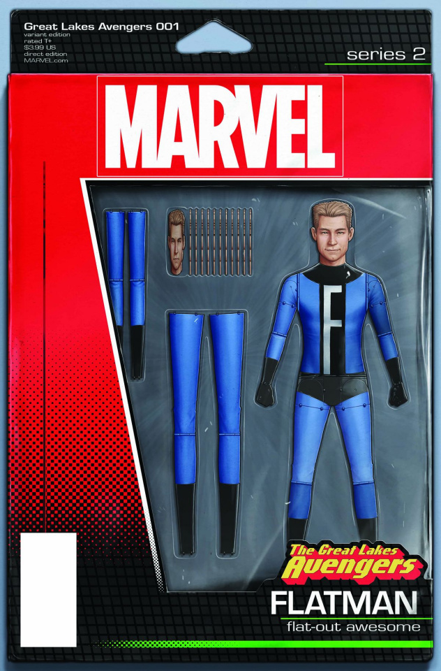 Great Lakes Avengers #1 (Christopher Action Figure Cover)