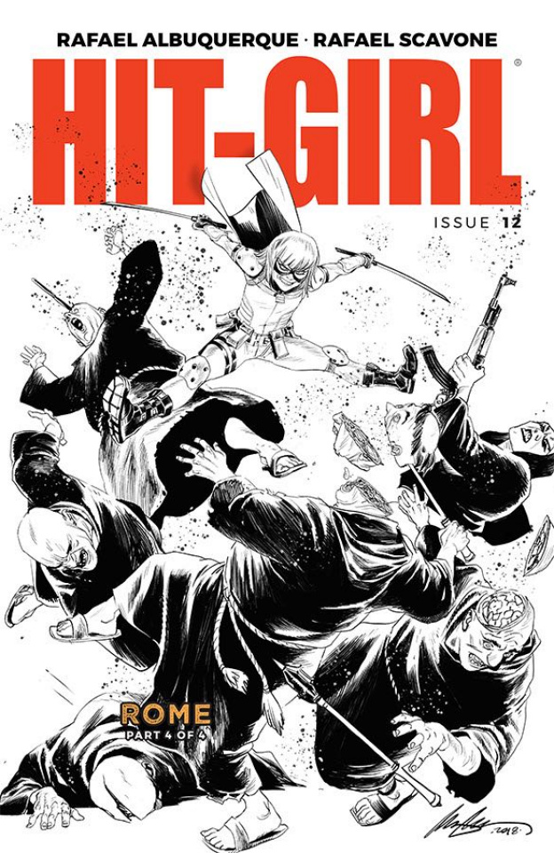 Hit-Girl #12 (B&W Albuquerque Cover)