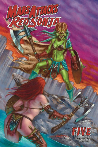 Mars Attacks / Red Sonja #5 (Strati Cover)