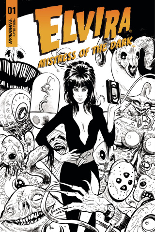 Elvira: Mistress of the Dark #1 (30 Copy Strahm B&W Cover)