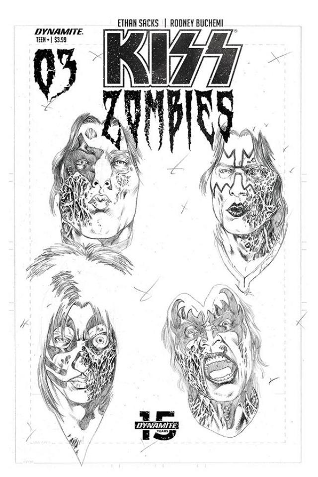 KISS: Zombies #3 (11 Copy Buchemi Pencils Cover)