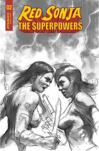 Red Sonja: The Superpowers #2 (30 Copy Parrillo B&W Cover)