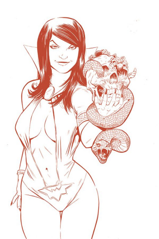 Vampirella / Red Sonja #5 (15 Copy Moss Tint Virgin Cover)