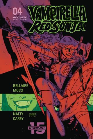 Vampirella / Red Sonja #4 (Romero & Bellaire Cover)