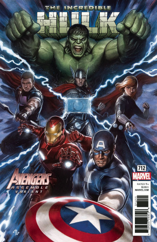 The Incredible Hulk #712 (Granov Avengers Cover)