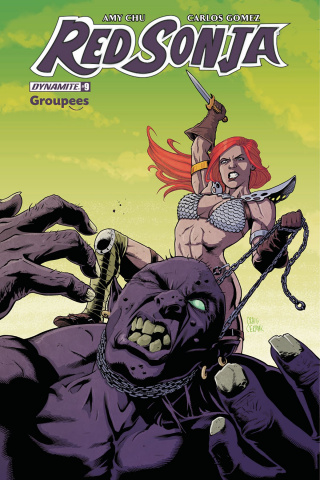 Red Sonja #9 (Groupees Cover)