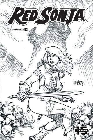Red Sonja #8 (30 Copy Linsner B&W Cover)