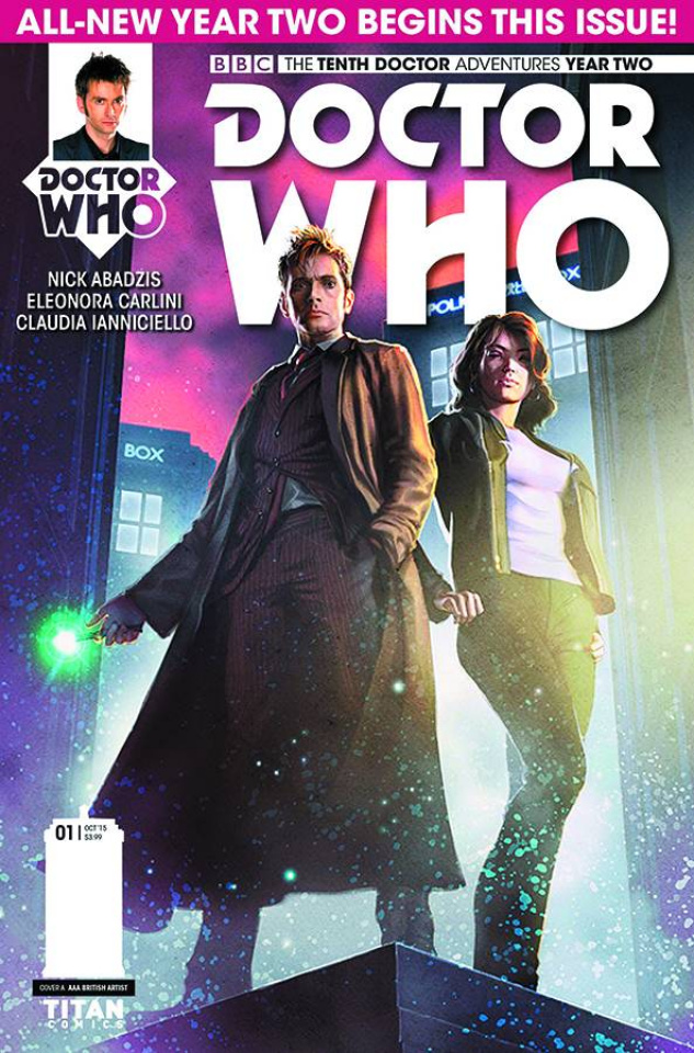 Doctor Who: New Adventures with the Tenth Doctor, Year Two #1 (Ronald Cover)